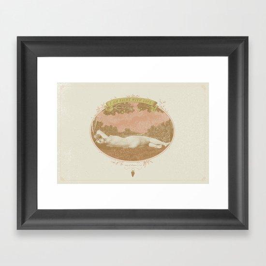 I am Faint with Love  Framed Art Print