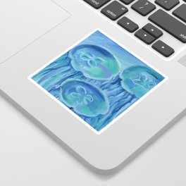 Striated Jelly Moons Sticker