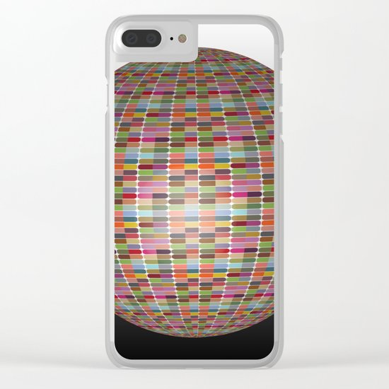 Colorful 3D Ball Clear iPhone Case