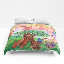 Medilludesign - Lucid dreams - flying in the sea Comforters