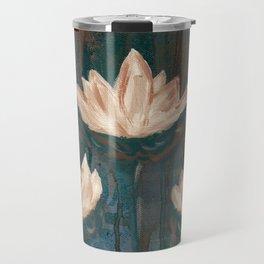 Three Lotus Flowers Travel Mug