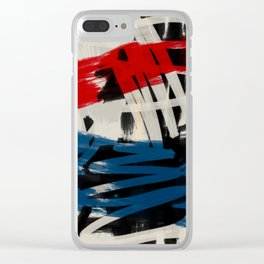 French Expressionist Abstract Art Clear iPhone Case