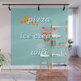 Pizza Ice cream Wifi Wall Mural