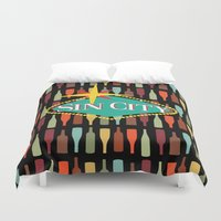 sin city Duvet Covers featuring Sin City by Chelsea Dianne Lott