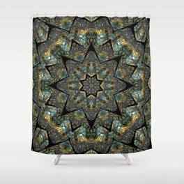 Labradorite Starlight Shower Curtain
