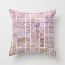 Travertine Squares Throw Pillow