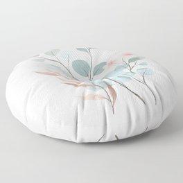 Verdant Branches 01 Floor Pillow