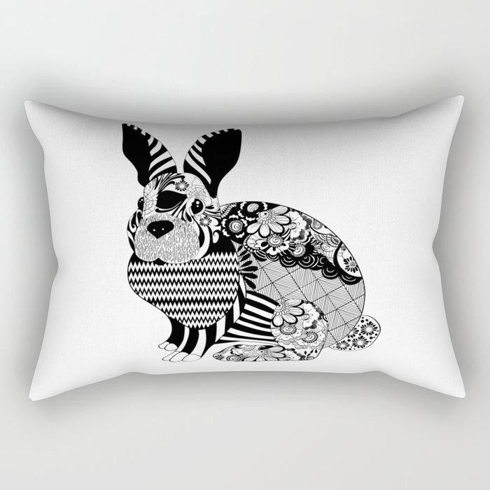 Rabbit floral Rectangular Pillow