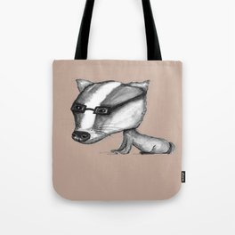 NORDIC ANIMAL - BENITO THE BADGER / ORIGINAL DANISH DESIGN bykazandholly  Tote Bag