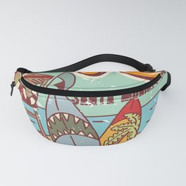 The Best Surfing – Santa Monica Beach Fanny Pack