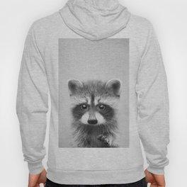 Raccoon - Black & White Hoody