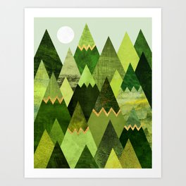 Forest Mountains Art Print