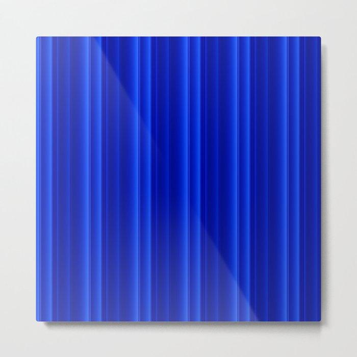 Sleek (Blue) Metal Print