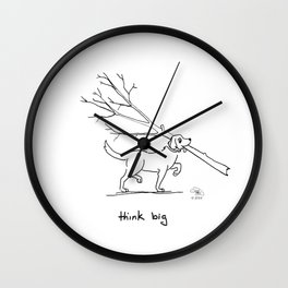 Dogs Think Big Wall Clock
