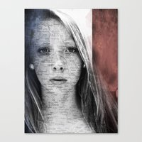 france Canvas Prints featuring France by emscrazy8
