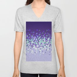 Purple Disintegrate Unisex V-Neck