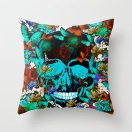 SUGAR SKULL AND HAPPINESS Throw Pillow