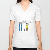 cookies V-neck T-shirts featuring Cookies by theswagnessofbonnie