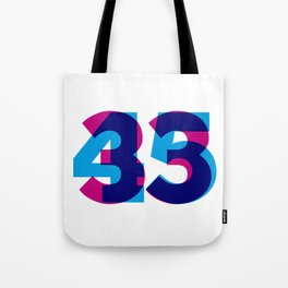 33/45 Tote Bag