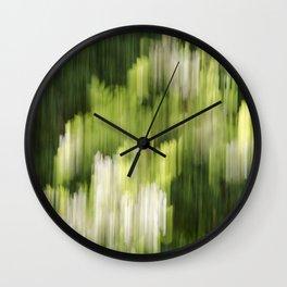 Green Hue Realm Wall Clock