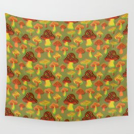 Mushroom Print in 3D Wall Tapestry