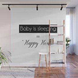 Baby Sleeping Happy Hour Wall Mural