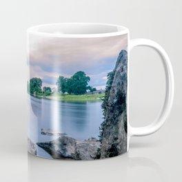 Long Exposure Photo of The River Tay in Perth Scotland Coffee Mug