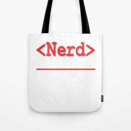 "Nerd and rockstar at the same time? You can be both with this ""Nerd Intellectual Rockstar Tee"" Tote Bag"