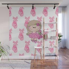 Little Ballerina in Pink Wall Mural