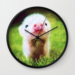 CUTE LITTLE BABY PIG PIGLET Wall Clock