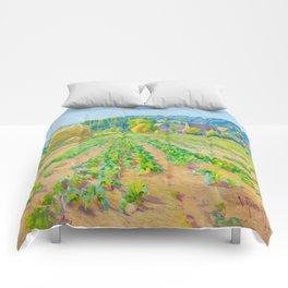 Václav Radimský (1867-1946) Cabbage Fields near Vernon Modern Impressionist Oil Painting Colorful Comforters