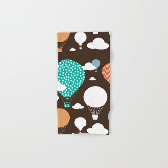Hot air balloon chocolate Hand & Bath Towel