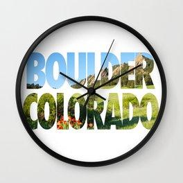 Boulder Colorado Wall Clock
