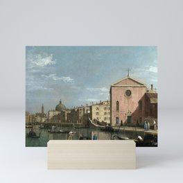 Venice, The Grand Canal facing Santa Croce by Follower of Canaletto Mini Art Print