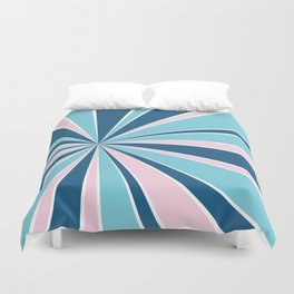 Starburst Pink and Blue Duvet Cover