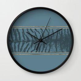 Blueprint and Animal texture 2 Wall Clock