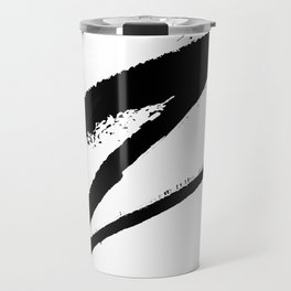 Letter Z Ink Monogram Travel Mug