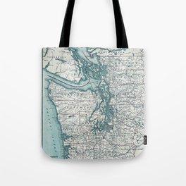 Puget Sound Map Tote Bag