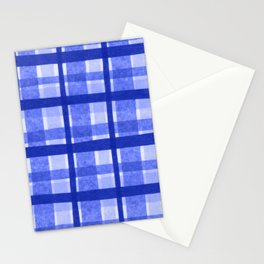 Tissue Paper Plaid - Blue Stationery Cards