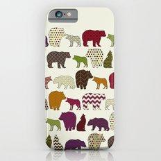 bear wolf geo party Slim Case iPhone 6