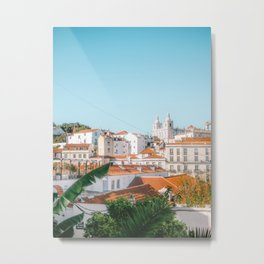 View of the Alfama district | Fine art photography print in Portugal, Europe Metal Print