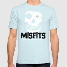 Misfits always say die... Mens Fitted Tee SMALL Light Blue