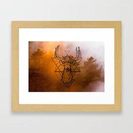 Nature Deer orange Framed Art Print