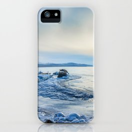 Frozen wharf and Halo iPhone Case