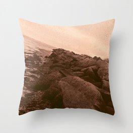 Red Salt Rocks Throw Pillow