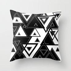 Triangle black and white Throw Pillow