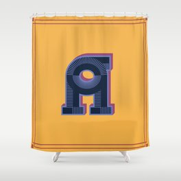 Alphabet Drop Caps Series- A Shower Curtain