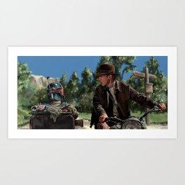 seen you before?! Art Print