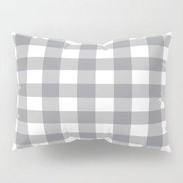 Gray and White Buffalo Plaid Pattern Pillow Sham