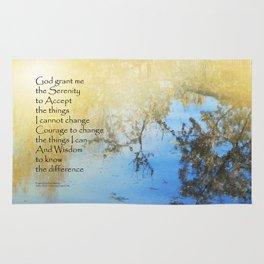 Serenity Prayer Pond Reflections Rug
